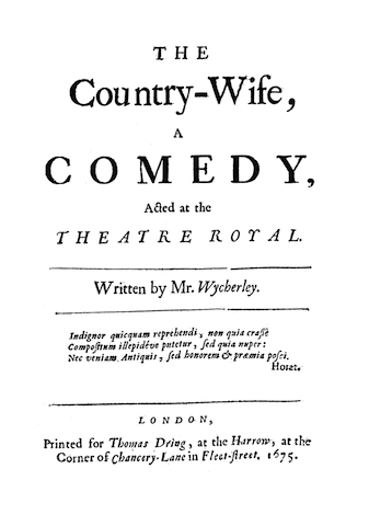 high comedy examples in literature