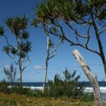 Blue skies and barbed wire (private beach)