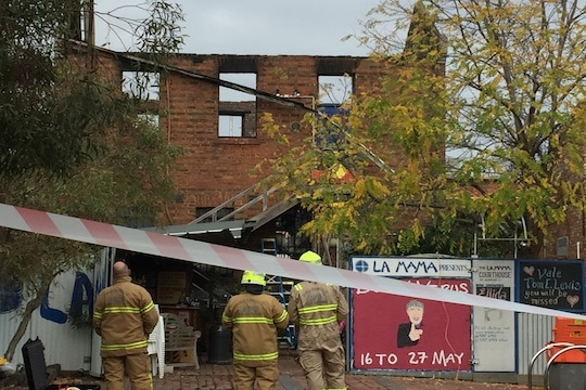 La Mama Gutted By Fire